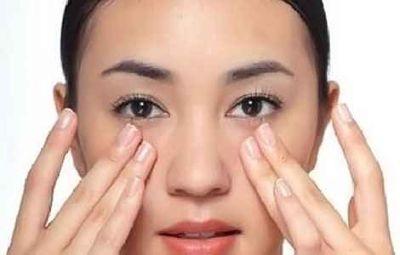массаж под глазами